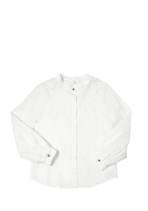 Doubled Cotton Satin Shirt
