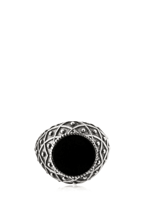 Stone Onyx & Silver Ring