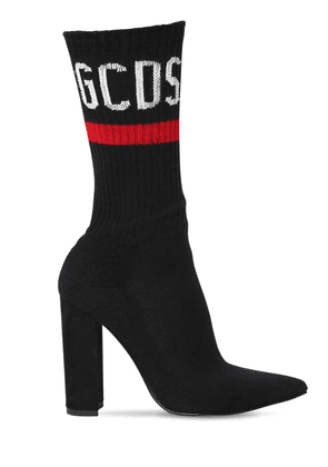 110mm Pointy Logo Knit Sock Boots
