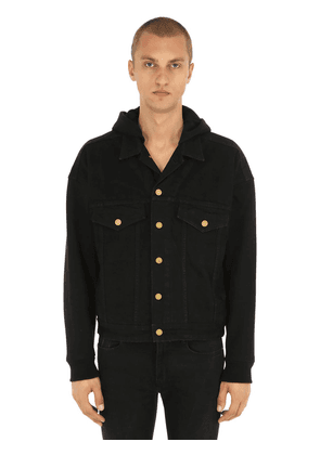 Hooded Cotton Trucker Jacket