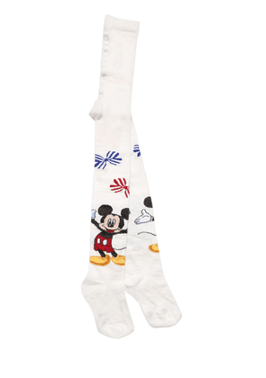 Mickey Mouse Intarsia Cotton Tights
