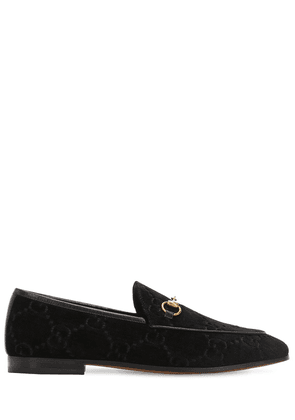 10mm Jordan Gg Supreme Velvet Loafers