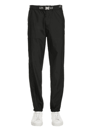 Nylon Track Pants W/ Vltn Belt