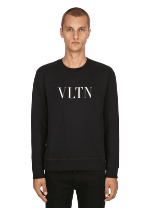 Vltn Printed Cotton Jersey Sweatshirt