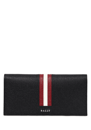 Striped Saffiano Leather Wallet