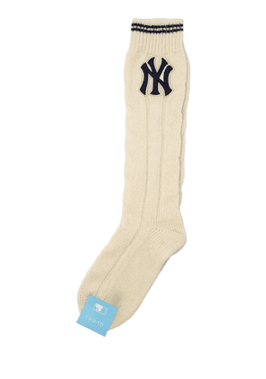 Ny Patch Wool Knit Socks