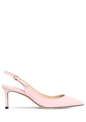 60mm Erin Patent Leather Slingback Pumps