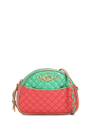 Small Two Tone Quilted Leather Bag