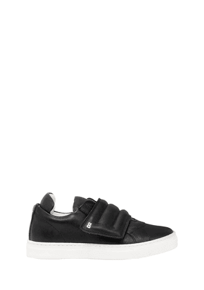 Padded Leather Strap Sneakers