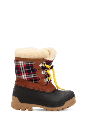 Plaid & Rubber Snow Boots