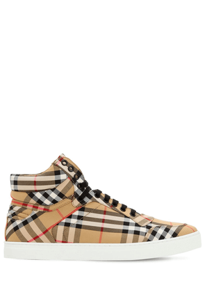 Vintage Check Canvas High Top Sneakers