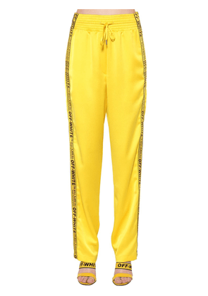 Logo Band Satin Pajama Pants
