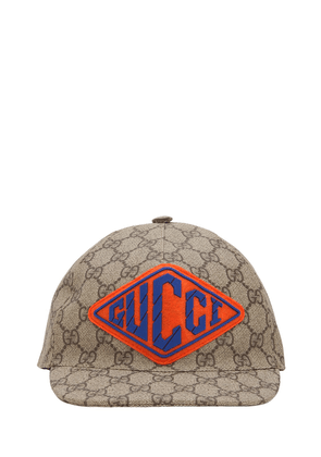 Gg Supreme Faux Leather Trucker Hat