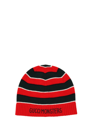 Striped Knitted Wool Hat