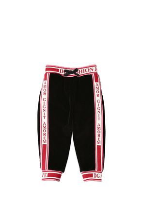 Logo Velvet Sweatpants