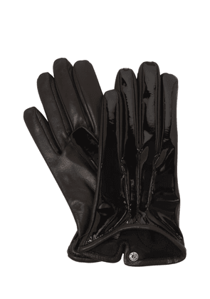 Patent & Nappa Leather Gloves
