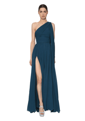 One Shoulder Crepe Georgette Dress