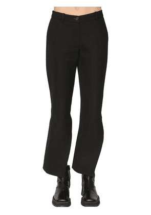 Twisted Flared Wool Blend Pants