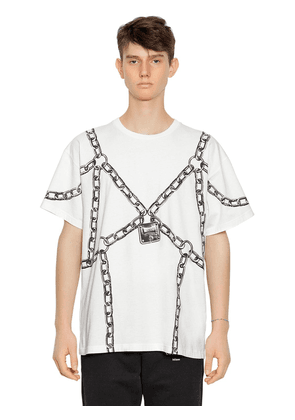 Oversize Chain Printed Jersey T-shirt