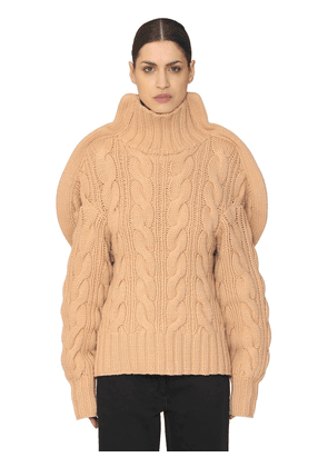 3d Handmade Wool Knit Turtleneck Sweater