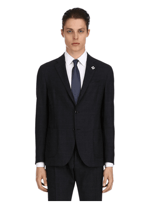 Single Breasted Easy Wear Wool Suit