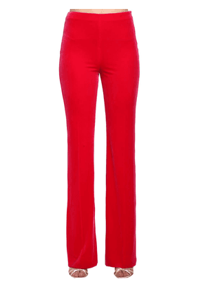 High Waisted Flared Velvet Pants
