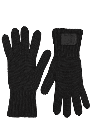 Wool Rib Knit Gloves
