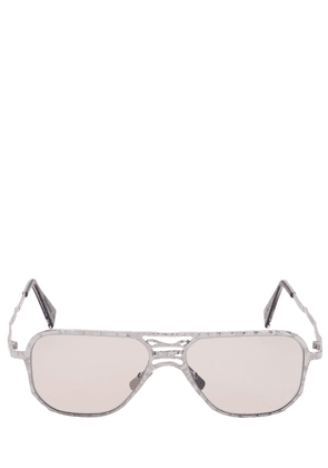 Aviator Textured Metal Sunglasses