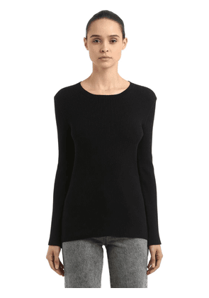Ariete Rib Knit Sweater W/ Snap Buttons