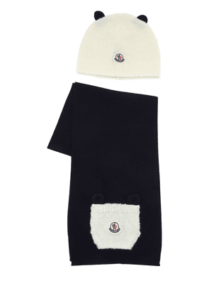 Boucle Wool Hat & Scarf