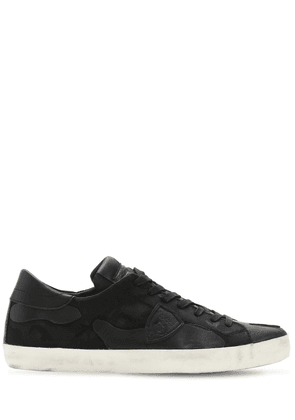 Paris Camouflage Leather Sneakers