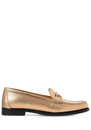 20mm Rolo Metallic Leather Loafers