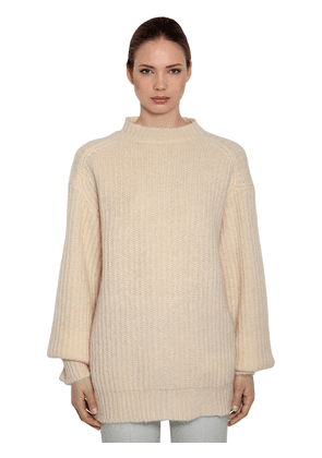 Oversized Mohair Rib Knit Sweater