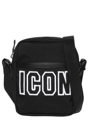 Icon Frame Tech Nylon Crossbody Bag