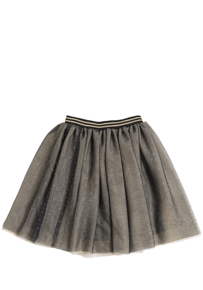 Layered Glitter Stretch Tulle Skirt