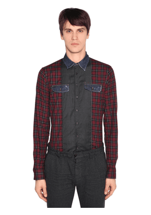 Carpenter Patchwork Cotton Check Shirt