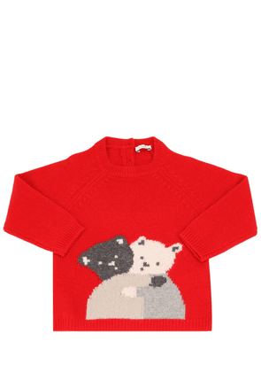 Bears Intarsia Wool Knit Sweater