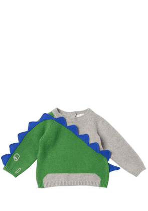 Dino Intarsia Wool Knit Sweater