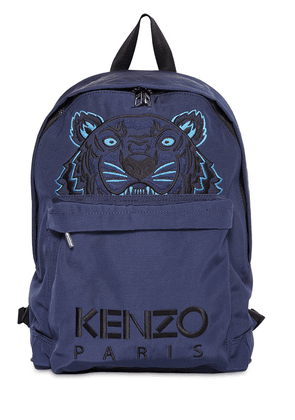 Tiger Embroidered Nylon Backpack