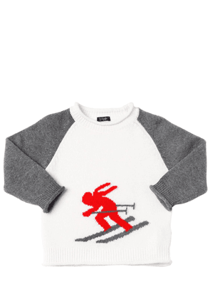 Ski Intarsia Wool Knit Sweater