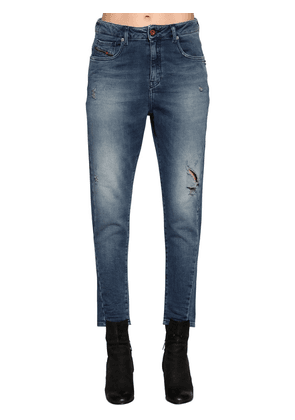 Destroyed Denim Effect Cotton Joggjeans