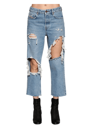 Destroyed Washed Denim Jeans