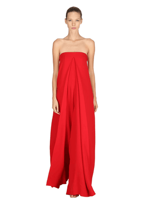 Silk Cady Strapless Jumpsuit