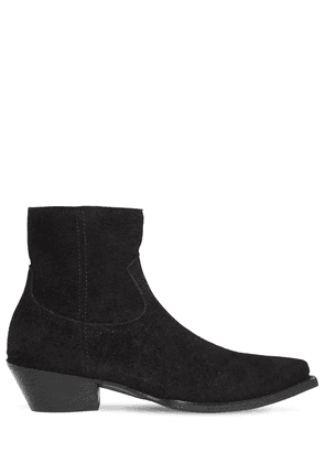 40mm Lukas Reversed Leather Ankle Boots