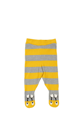Bee Striped Cotton Knit Tights