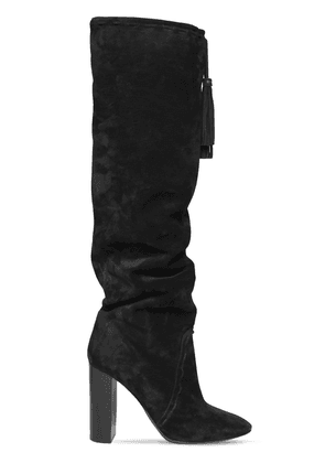 105mm Meurice Suede Over The Knee Boots