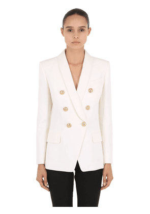 Cool Wool Double Breasted Long Blazer