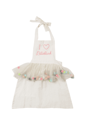 Cotton Apron With Pompom Skirt