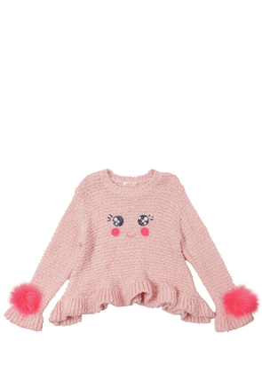 Smiley Face Knit Sweater
