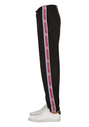 Jersey Track Pants W/ Logo Side Bands